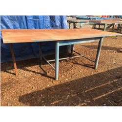 STEEL TOP WORK TABLE WITH UNMOUNTED BASE