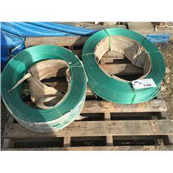 2 LARGE ROLLS OF PLASTIC BANDING