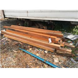 APPROX 30 WOODEN BEAMS (3.5 INCH X 3.5 INCH) (APPROX 100 INCHES LONG)
