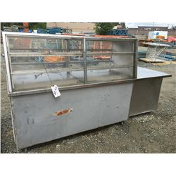 COMMERCIAL RESTAURANT REFRIGERATED DISPLAY UNIT (CONDITION UNKNOWN)
