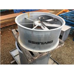 DEVILBISS INDUSTRIAL EXHAUST FAN (NO MOTOR)