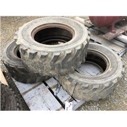 3 BOBCAT SKID-STEER TIRES
