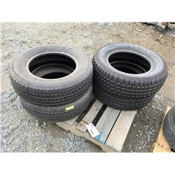 SET OF 4 M+S TRUCK TIRES TIRES P245/70R17 (2X GENERAL 2X STAMPEDE)