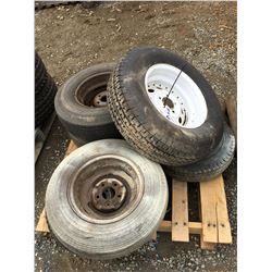 GROUP OF 6 ASSTD VEHICLE AND TRAILER TIRES