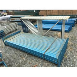 GROUP OF REDI-RACK UPRIGHTS AND BEAMS (GREY & BLUE)