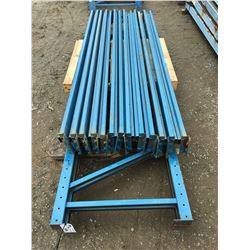 GROUP OF REDI-RACK SHELF/PALLET RACKING UPRIGHTS & BEAMS (BLUE)