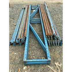 GROUP OF MASTO SHELF/PALLET RACKING UPRIGHTS & BEAMS (BLUE)