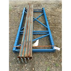 GROUP OF MASTO SHELF/PALLET RACKING UPRIGHTS AND BEAMS (BLUE)