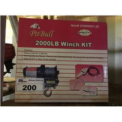 PITBULL 2000 LB WINCH KIT