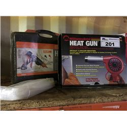 MILWAUKEE HEAT GUN & PAM INDUSTRIAL GLUE APPLICATOR