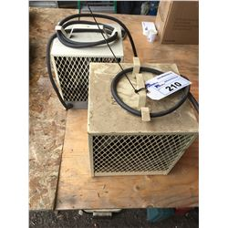 2 INDUSTRIAL CONSTRUCTION HEATERS (OFF WHITE)