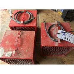 3 INDUSTRIAL CONSTRUCTION HEATERS (RED)