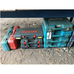 9 ASSTD. EMPTY POWER TOOL CASES - MAKITA, BOSCH, MILWAUKEE