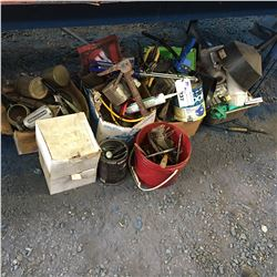LARGE GROUP OF ASSTD TOOLS, HARDWARE & MISC. ITEMS