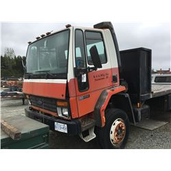 1990 FORD CAB OVER 5 TON FLAT DECK, VIN 9BFDH60POLDM00974, ODO 148711KM, DIESEL, AUTO, RD , NO