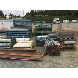 LARGE GROUP OF ASSTD PALLET RACKING BEAMS & PARTS