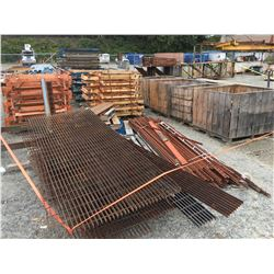 LARGE LOT OF PALLET RACKING, ROLLER DECKS, PARTS, SCRAP STEEL - EVERYTHING WITHIN THE FLAGGING