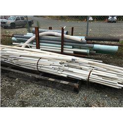 2 LARGE BUNDLES OF ASSTD PIPE, PVC & METAL PIPE