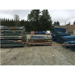 LARGE GROUP OF ASTD PALLET RACKING - BEAMS ONLY (BLUE)