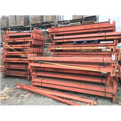 3 LARGE STACKS OF C-CHANNEL STRUCTURAL REDI-RACK BEAMS (ORANGE)