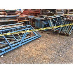 GROUP OF PALLET RACKING UPRIGHTS ONLY (BLUE)
