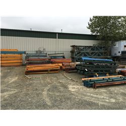 LARGE GROUP OF ASSTD PALLET RACKING BEAMS & UPRIGHTS