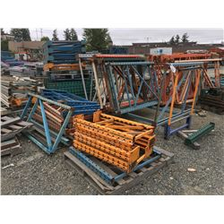 LARGE GROUP OF ASSTD PALLET RACKING UPRIGHTS