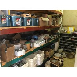 ALL CONTENTS OF HARWARE ROOM INCLUDES NEW BOLTS, FASTENERS, HARDWARES, SHELF RACKING,