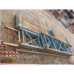 GROUP OF MASTO PALLET RACKING UPRIGHTS & BEAMS (BLUE)
