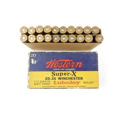 WESTERN SUPER-X 25-35 WINCHESTER AMMO