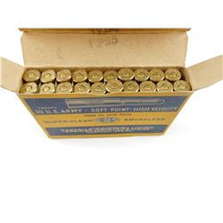 CIL .30 U.S. ARMY SOFT POINT HIGH VELOCITY AMMO