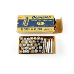 32 SMITH & WESSON ASSORTED AMMO, 38 SPECIAL