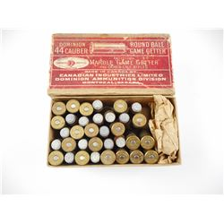 DOMINION 44 CALIBER ROUND BALL GAME GETTER AMMO