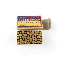 WINCHESTER SUPER SPEED 22 LONG RIFLE AMMO