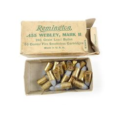 REMINGTON .455 WEBLEY MARK II AMMO