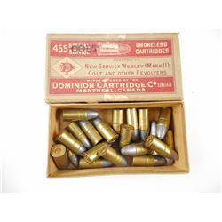 DOMINION .455 SPECIAL SERVICE AMMO