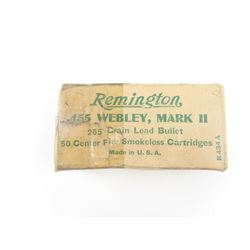 REMINGTON (HANDGUN) 455 WEBLEY MARK II AMMO