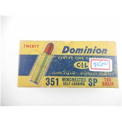 DOMINION 351 WINCHESTER SELF-LOADING AMMO
