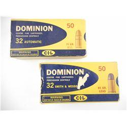 DOMINION 32 AUTO/ 32 SMITH AND WESSON AMMO