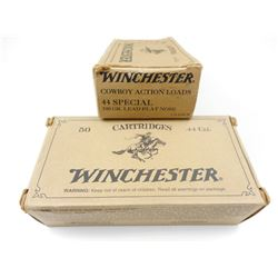 WINCHESTER COWBOY ACTION LOADS 44 SPECIAL AMMO, BRASS CASES