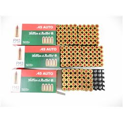 SELLIER & BELLOT 45 AUTO AMMO, BRASS