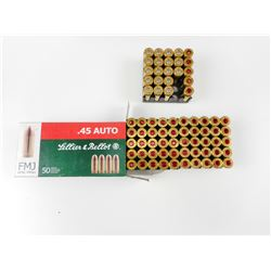 45 AUTOMATIC AMMO ASSORTED