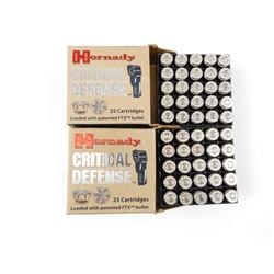 HORNADY CRITICAL DEFENSE 9MM LUGER AMMO