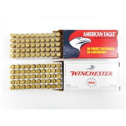 WINCHESTER, AND AMERICAN EAGLE 9MM LUGER AMMO