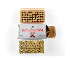 25-20 ASSORTED AMMO, FACTORY AND RELOADS, BRASS
