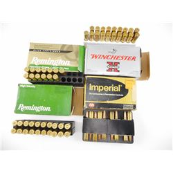 7MM REM ASSORTED AMMO, BRASS