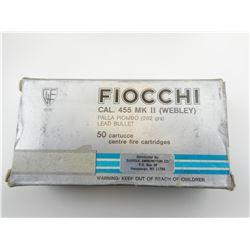FIOCCHI 455 MK II (WEBLEY) AMMO