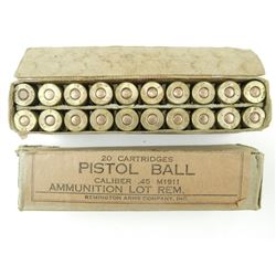 PISTOL BALL 45 CALIBER AMMO