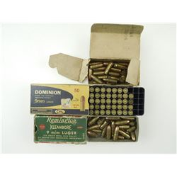 9MM LUGER AMMO ASSORTED