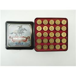 WINCHESTER 125TH ANNIVERSARY 12 GAUGE SHOTGUN SHELLS, IN TIN